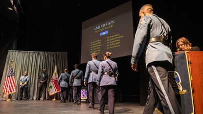 Howard police recognized officers, civilian employees and volunteers at the department's annual awards ceremony at the Howard Community College's Horowitz Visual and Performing Arts Center in Columbia on April 16.