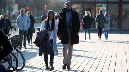 "Eric Bigger and Rachel Lindsay tour Copenhagen during an episode of ""The Bachelorette."""