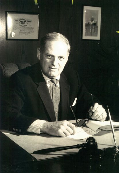 Thomas Jr. Bollinger Sr., pictured in February 1992, spent more than 20 years as associate judge of Baltimore County Circuit Court, 3rd Judicial Circuit.