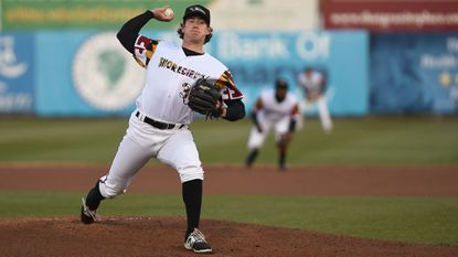 Orioles prospect Michael Baumann rides 'bread and butter' fastball for Delmarva