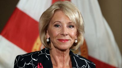 U.S. Secretary of Education Betsy Devos will address education reporters during a conference in Baltimore in May.
