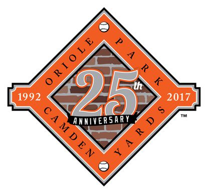 The Orioles on Friday unveiled the logo they'll wear on their uniform sleeve to commemorate the 25th anniversary of Camden Yards, which opened in 1992.