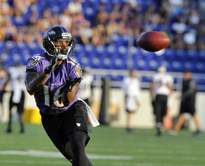 Wide receiver Jace Davis was with the Ravens over the summer.