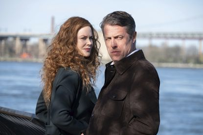 """Nicole Kidman and Hugh Grant in a scene from """"The Undoing,"""" airing Sundays at 9 p.m. on HBO. (HBO via AP)"""