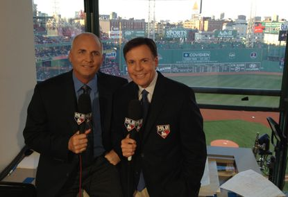 Bill Ripken and Bob Costas in the booth for the MLB Network. Ripken will be featured in-studio on the MLB Network's pre-game World Series coverage.