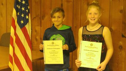 "Ebb Valley Elementary School fifth-graders Ben Phillips took first and Sadie Pennington second in the essay contest held by the Hampstead American Legion Post 200 Auxiliary, answering the question, ""How Can I Promote Americanism?"""