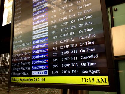 BWI's main terminal shows normal passenger traffic on Friday morning.