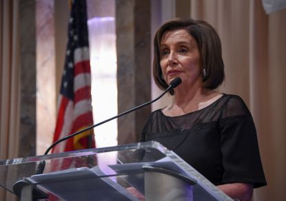 U.S. Speaker of the House Nancy Pelosi gives remarks at the gala. U.S. and Maryland Democratic leadership spoke at the Maryland Democratic Party's annual gala Saturday night at Martin's East in Middle River.