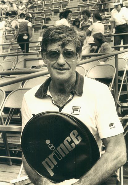 Don Candy, pictured in March 1981, moved to Baltimore in 1967 as the teaching pro at both The Suburban Club and Orchard Indoor Tennis Club.