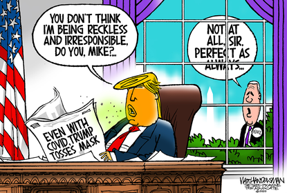 October 6, 2020 (Walt Handelsman, Tribune Content Agency)