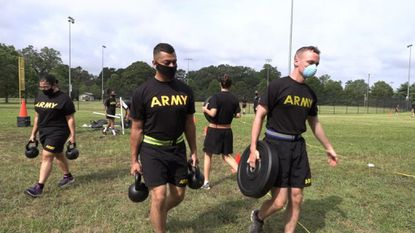 A military training team (MTT) from Fort Eustis, Va., used a week-long stay at Fort Meade to train unit NCO's and officers on the new Army Combat Fitness Test (ACFT). - Original Credit: