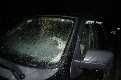 Commuters are waking to sleet and freezing rain on roads, sidewalks and cars this morning as the second of three forecast winter storms for the week hits Maryland.