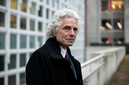 Steven Pinker, a best-selling author and Harvard professor, on the campus in Cambridge, Mass. Nov. 15, 2018. Pinker occupies a role increasingly rare in American life: the public intellectual.