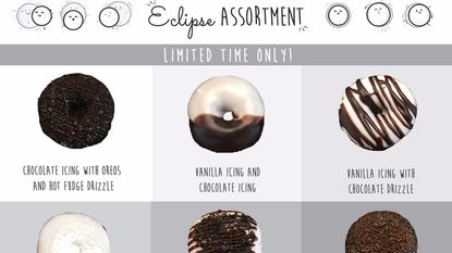 Duck Donuts is offering assorted eclipse-themed doughnuts to celebrate next week's solar eclipse.