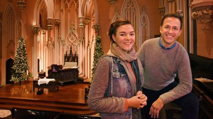 Lisa McNulty, a mezzo-soprano, and Jason Kissel, Minister of Music and organist at First & Franklin Presbyterian Church, are preparing for the Annual Candlelight Choral Concert at 4 p.m. on Sunday, December 16.