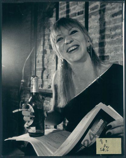 """Sandra L. """"Sandie"""" Castle, pictured in June 1983, the year the Maryland Writers Council named her Best Poetry Performer of the Year."""