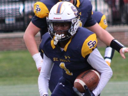 St. Paul's wide receiver Kylen Austin had 33 receptions for 563 yards and nine touchdowns last season.