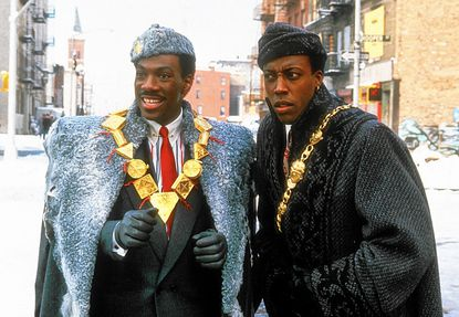 """Eddie Murphy (left) and Arsenio Hall in """"Coming to America."""""""