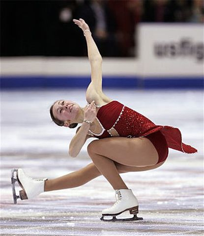 Kimmie Meissner took the top spot at U.S. Figure Skating Championships.