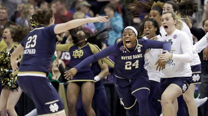Eureka, Arike! Ogunbowale's last-second 3-pointer gives Notre Dame the NCAA women's title, 61-58