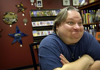 Bunky Bartlett at Mystickal Voyage in Nottingham, shortly after he won a Mega Millions jackpot in 2007. Bartlett invested in the Wiccan bookstore, but it went out of business.