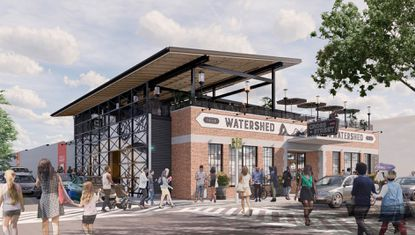 The Atlas Restaurant Group plans to add a roof deck to Cross Street Market. Photo courtesy of BCT Architects.