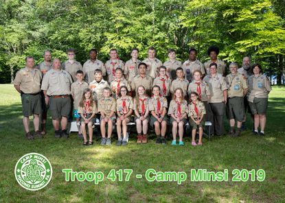 Carroll County's first all-female Scouts BSA troop members joined their male counterparts on a co-ed camping trip for the first time earlier this summer.