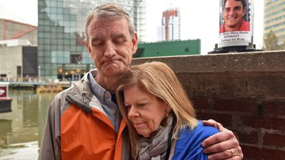Anne and Jim Schroeder called for more safety measures around Baltimore's Inner Harbor after their son, Ryan, died after falling into the frigid waters in February. On Thursday, the city announced that they had begun installing more ladders and emergency life ring stations.