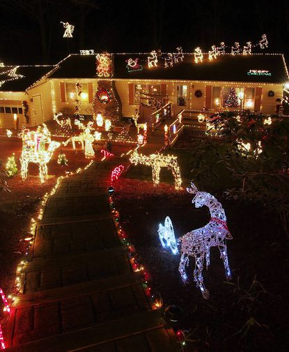 Chuck Greason is once again readying his Parkton house with thousands of lights and hundreds of Christmas displays to open to the public On Thanksgiving. Pictured here is the 2008 display.