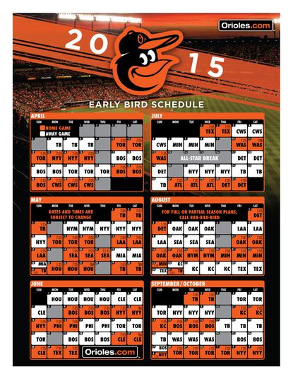 Orioles open 2015 on road at Tampa Bay; home opener Friday April 10