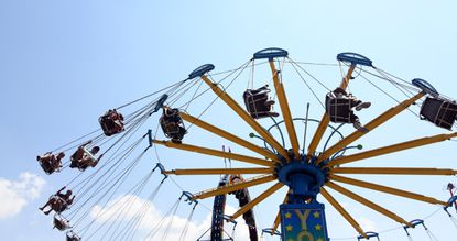 The end of August means the Maryland State Fair at the fairgrounds in Timonium. Eat cotton candy, go on a carnival ride, check out the livestock or listen to musical acts like Blue Oyster Cult and Jesse McCartney. Gates open at 9 a.m. on weekdays and 10 a.m. on weekends to a 10 p.m. close. Go to 2200 York Road, Lutherville-Timonium. Admission is $10 for adults, $8 for seniors; $5 for children 6 to 11 and free for children 5 and under. Through Sept. 6. Visitors ride the YoYo at the Maryland State Fair.