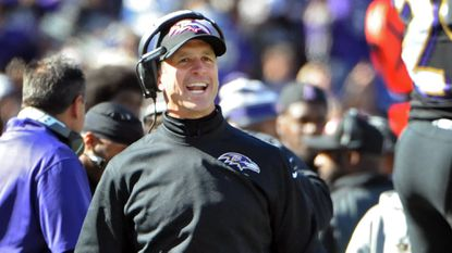 Ravens coach John Harbaugh talked about the play of rookie offensive linemen John Urschel and James Hurst.