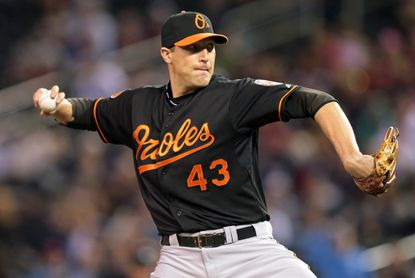 Jim Johnson broke the Orioles' franchise record with his 35th consecutive regular-season save (dating back to 2012).