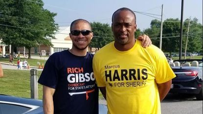 Both Democrats, sheriff-elect Marcus Harris, right, and Rich Gibson, the state's attorney-elect, unseated their Republican opponents in the November election. They are shown during campaigning.