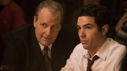 "Jeff Daniels (left) and Tahar Rahim star as FBI agents John O'Neill and Ali Soufan in Hulu's ""The Looming Tower."""