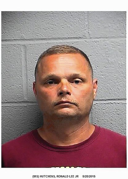 """Ronald Lee Hutchens Jr. is charged with multiple counts of illegal possession of guns for allegedly having eight rifles and shotguns despite a felony conviction on his record. Full story: <a href=""""http://bit.ly/1K80ewx"""">http://bit.ly/1K80ewx</a>"""