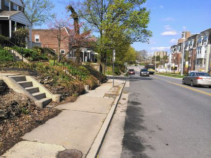 County Executive Kevin Kamenetz's proposed capital budget of $375 million for fiscal year 2016 includes $700,000 for resurfacing of East Burke Avenue, seen here, and replacement of curbs, gutters and sidewalks from Hillen to York Roads, a roughly half-mile stretch of East Burke.