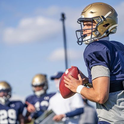 Tai Lavatai performed well during spring practice and closed the gap on classmate Xavier Arline in the competition for the Navy starting quarterback job.