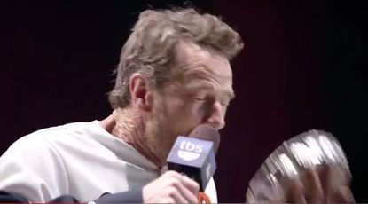 Breaking Bad star Bryan Cranston donned an Orioles jersey and pied himself in the face on a new MLB on TBS commercial