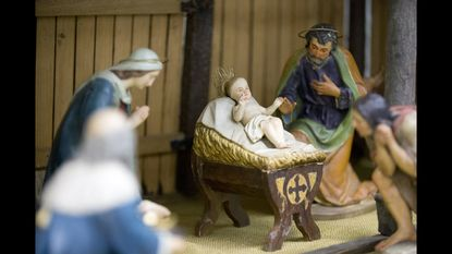 A Nativity scene at Catholic Community of St. Francis Xavier in Cockeysville.