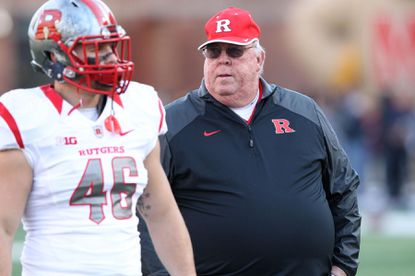 Rutgers offensive coordinator Ralph Friedgen is pictured before the Scarlet Knights played at Maryland in November.
