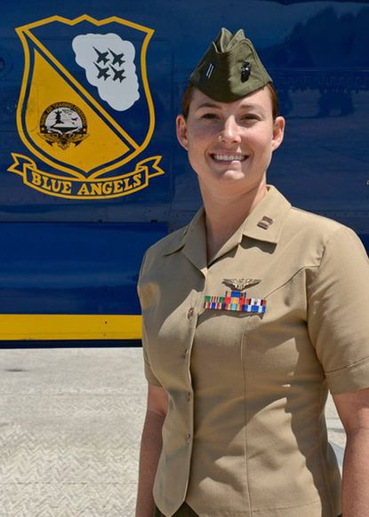 Marine Capt. Katie Higgins, 27, has been named as a demonstration pilot for the Blue Angels. She is a 2008 graduate of the U.S. Naval Academy.
