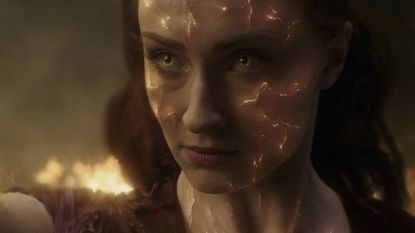 """Sophie Turner as Jean Grey, anger management student, in """"Dark Phoenix."""" The film, the latest in the """"X-Men"""" franchise, costars James McAvoy, Michael Fassbender and Jessica Chastain."""