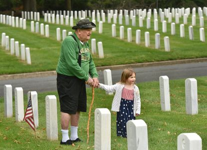 On Memorial Day weekend last year, Edward Schmedes of Bel Air visited the grave of his father, First Seargent Peter A. Schmedes, at Baltimore National Cemetery, with his great-granddaughter Grace. His father served in the Philippines during the Spanish-American War.