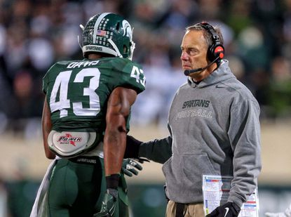 Coach Mark Dantonio, linebacker Ed Davis and Michigan State won't be in a friendly mood when they arrive in College Park fresh off a loss to Ohio State.