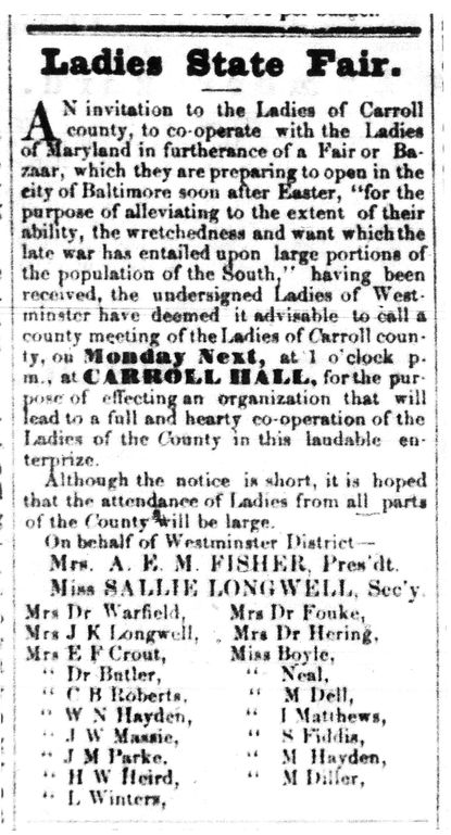 Carroll Yesteryears: Local newspapers reported on dire circumstances in post-Civil War South