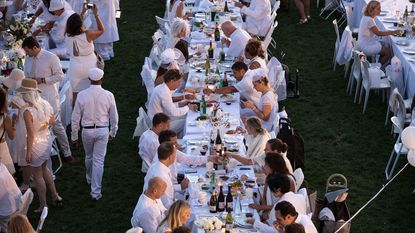 Thousands of people attendedthe Diner en Blanc pop-up dinner in New York City last year.