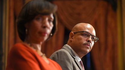 Joel Fitzgerald, Baltimore Mayor Catherine Pugh's choice to head the city police department, speaks at a press conference at City Hall Nov. 26.