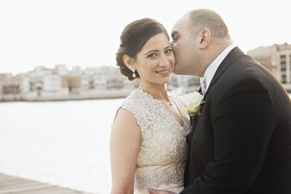 Zaineb Makhzoumi and Ayman Tomhe had a traditional Islamic wedding ceremony one day and a more modern reception the next.