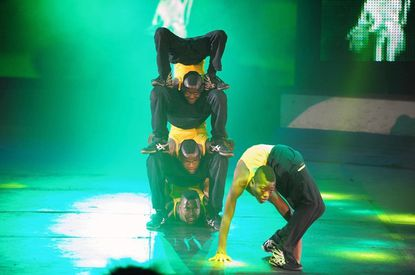The Bone Breakers are a contortionist group with hip-hip flair who will be performing with the 2012 UniverSoul Circus.
